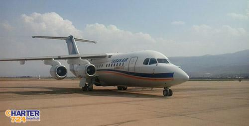 هواپیمایی تابان rj-85