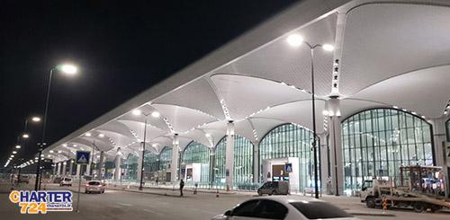نمایی از ترمینال اصلی فرودگاه جدید استانبول