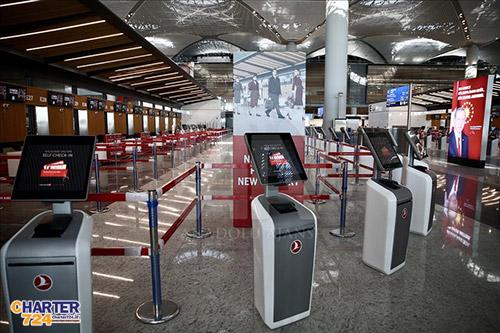 گیت های خروجی ترمینال اصلی فرودگاه جدید استانبول