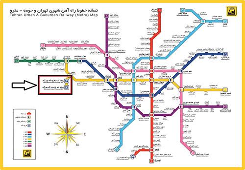 نقشه مترو تهران -فرودگاه مهر آباد